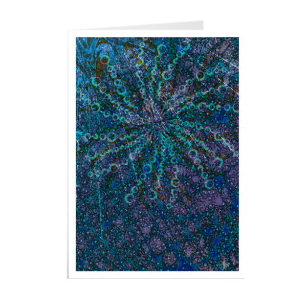 Gatefold greetings card 5x7 Matte Coming up for Air